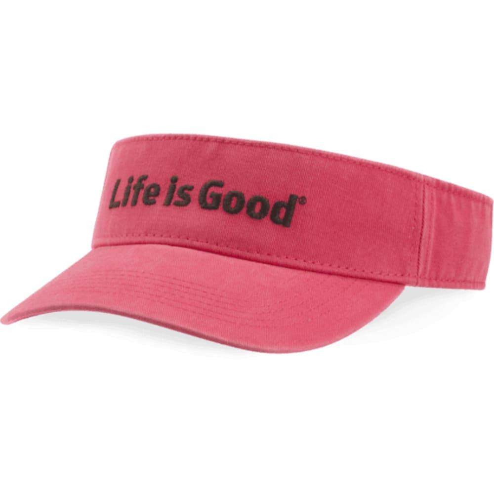 LIFE IS GOOD Women's Visor - POP PINK