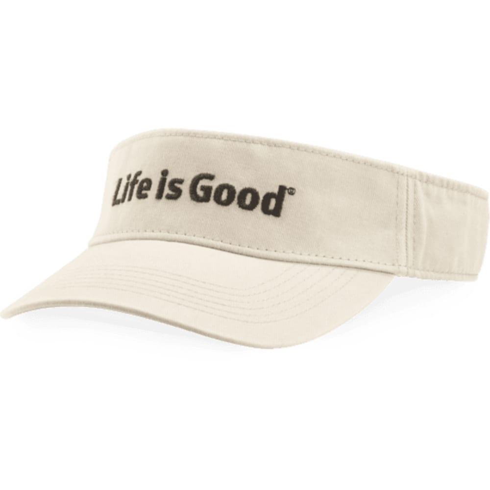 LIFE IS GOOD Women's Visor - BONE