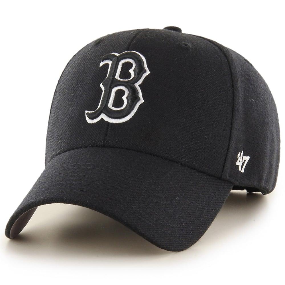 BOSTON RED SOX Men's '47 MVP Charcoal/White Adjustable Cap - BLACK