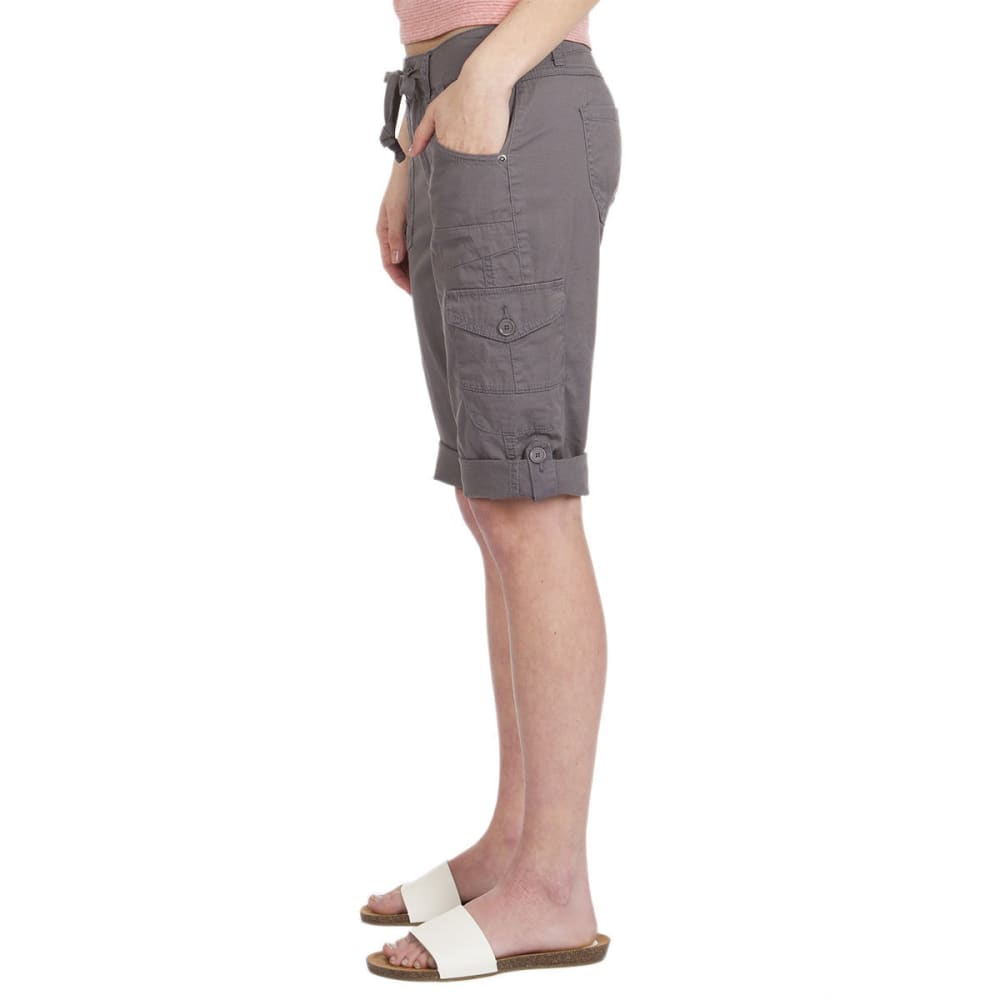UNIONBAY Women's Jamee Cargo Skimmer Shorts - 056J-LT GALAXY GREY