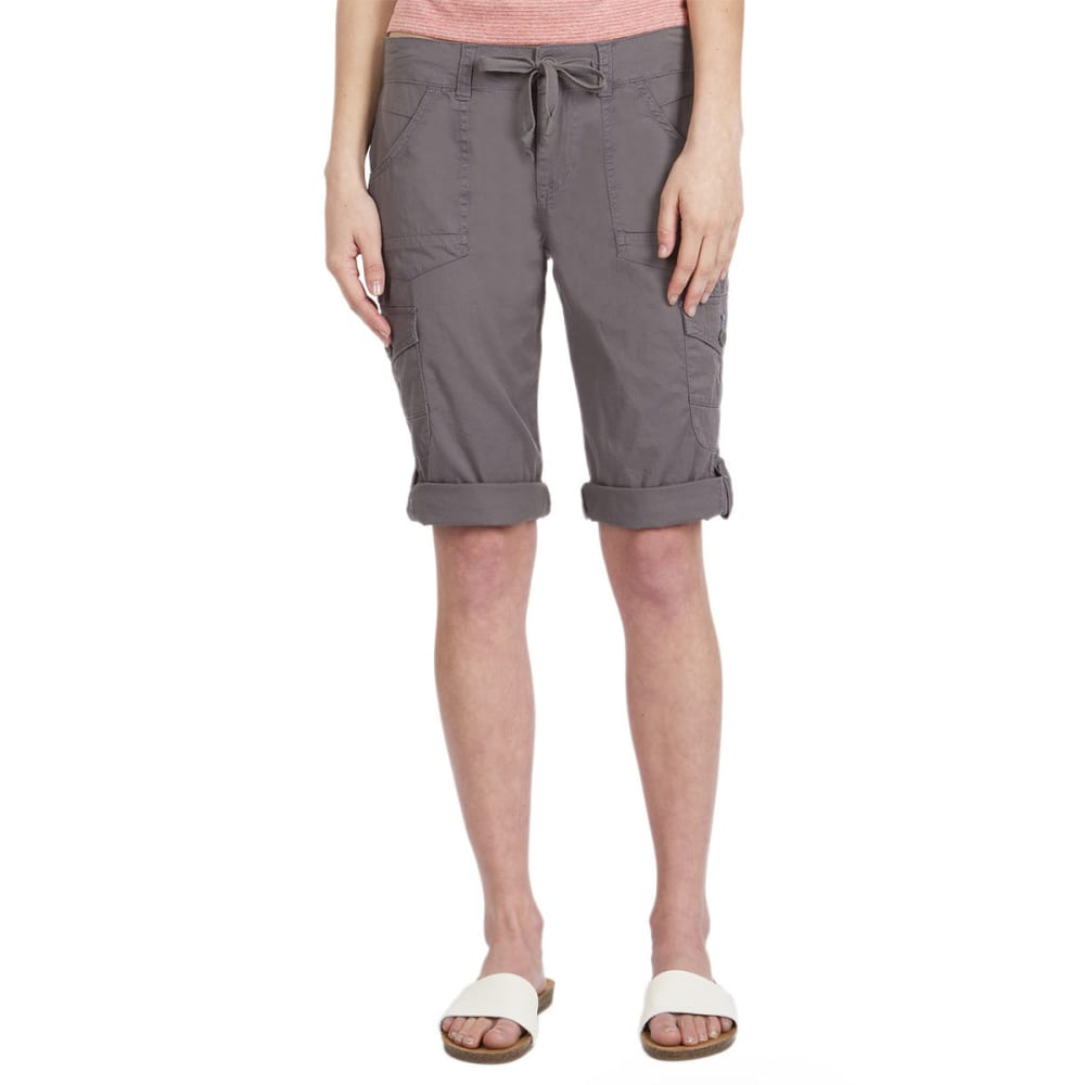 UNIONBAY Women's Jamee Cargo Skimmer Shorts - 056J-LT GALAXY GREY