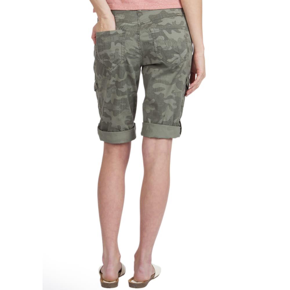UNIONBAY Women's Jamee Camo Cargo Skimmer Shorts - 353J-LAUREL CAMO