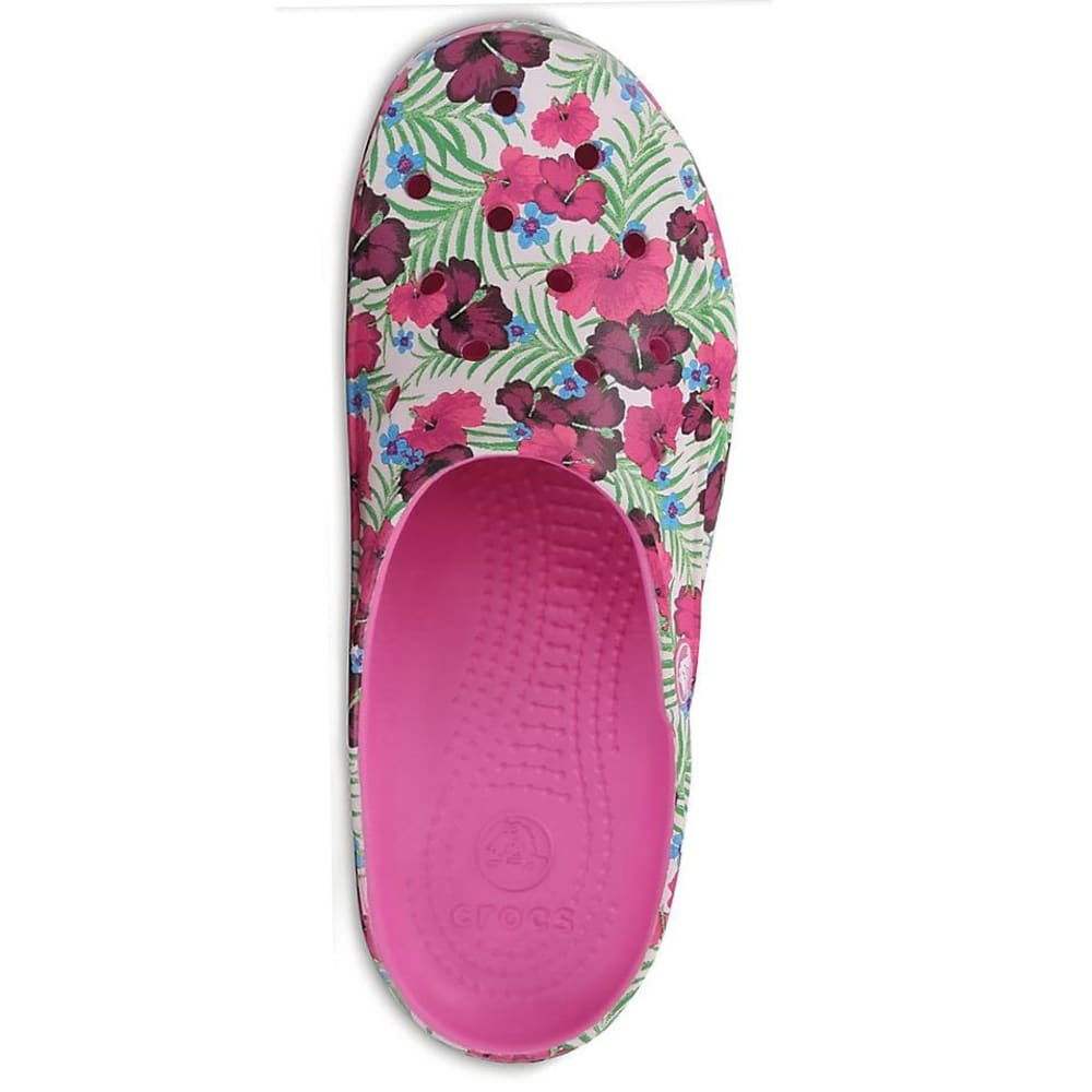 CROCS Women's Freesail Graphic Clogs, Pink Floral - PINK/FLORAL