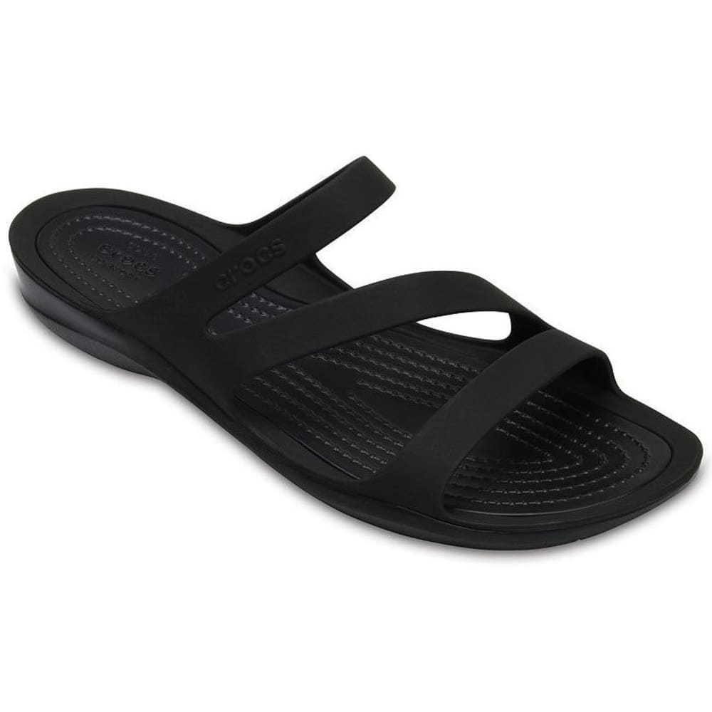 CROCS Women's Swiftwater Sandals, Black - 05M-BLACK