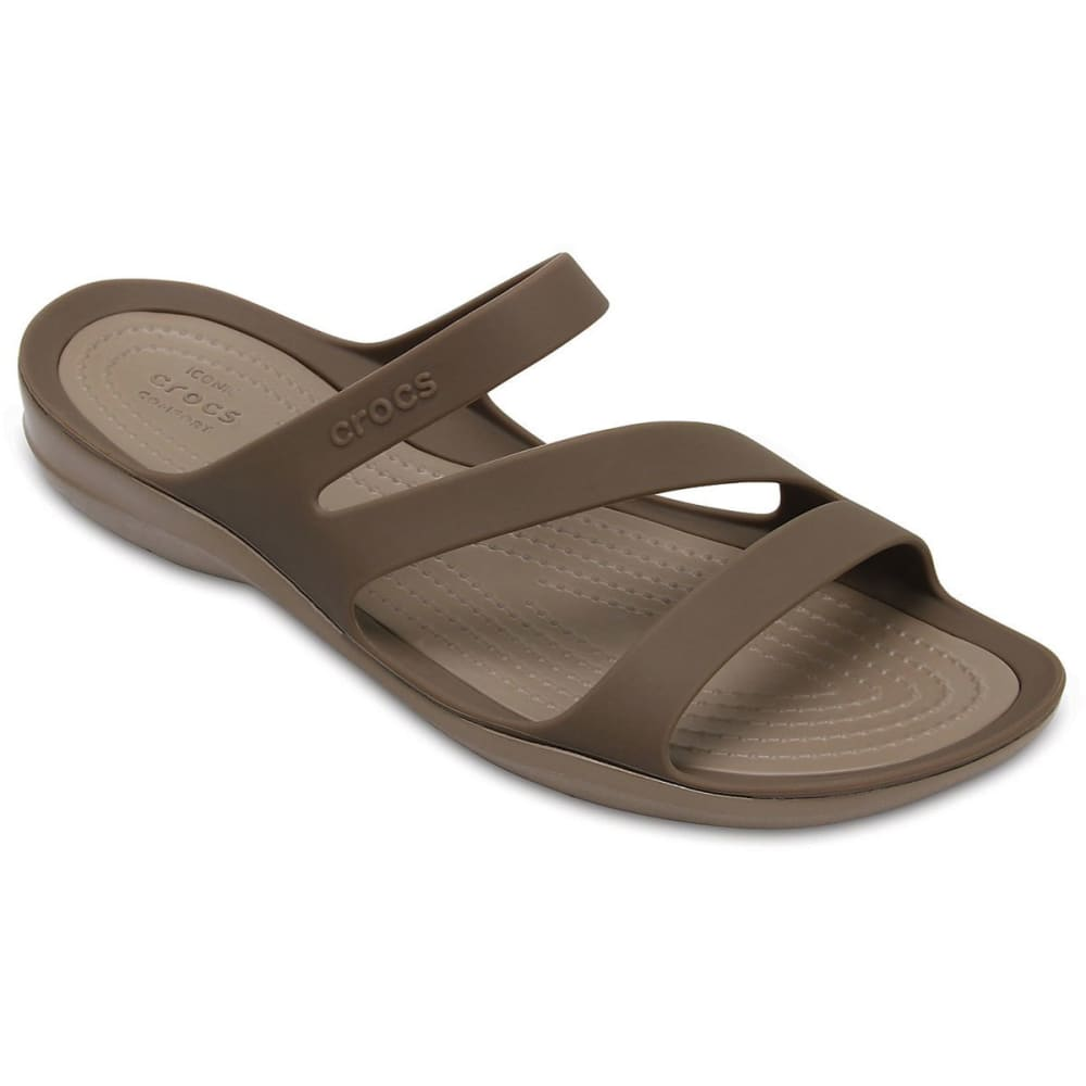 Crocs Women's Swiftwater Sandals, Walnut - Brown, 6
