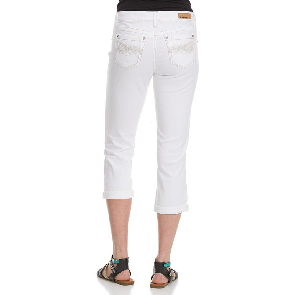 UNION BAY Women's Winnie Belted Crop Pant - 100J-WHITE