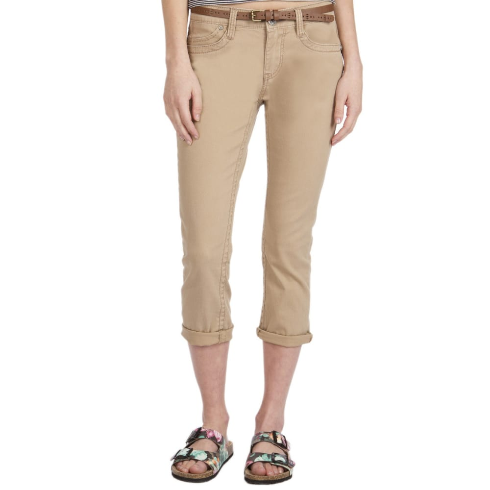 UNION BAY Women's Winnie Belted Crop Pant - 151J-SANDY BROWN
