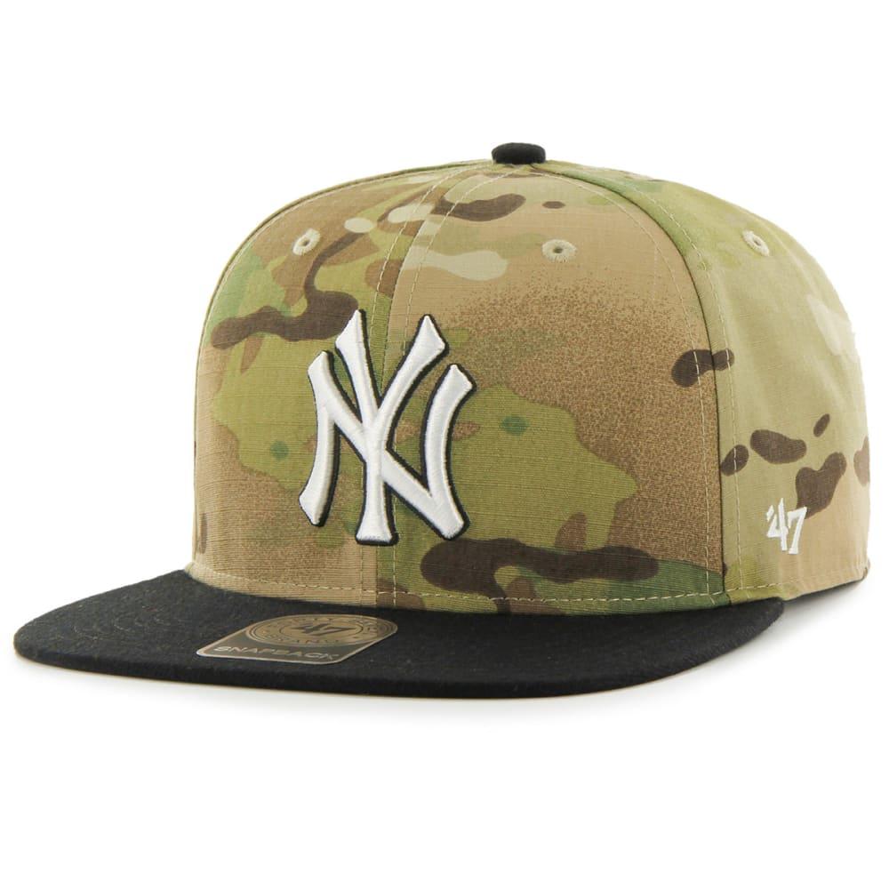 NEW YORK YANKEES Men's Overlord 47 Captain Camo Snapback Cap - CAMO