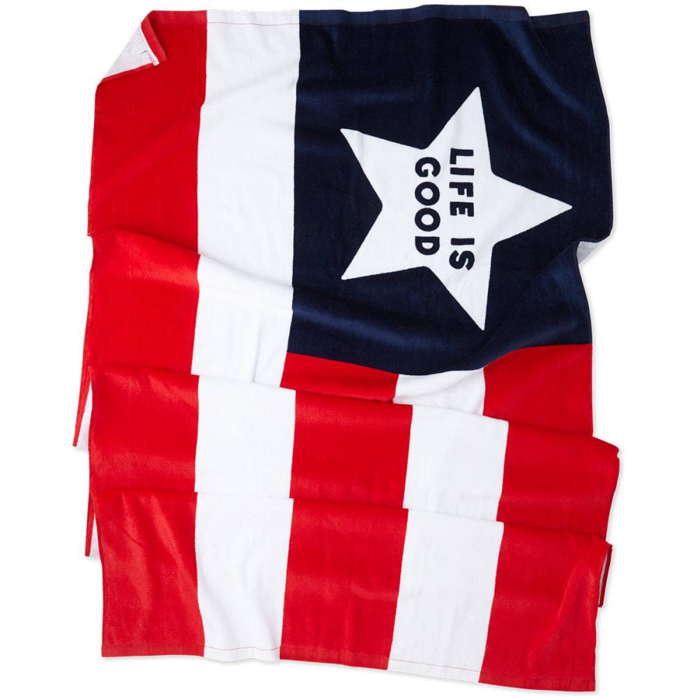 LIFE IS GOOD Flag Beach Towel - NOVELTY