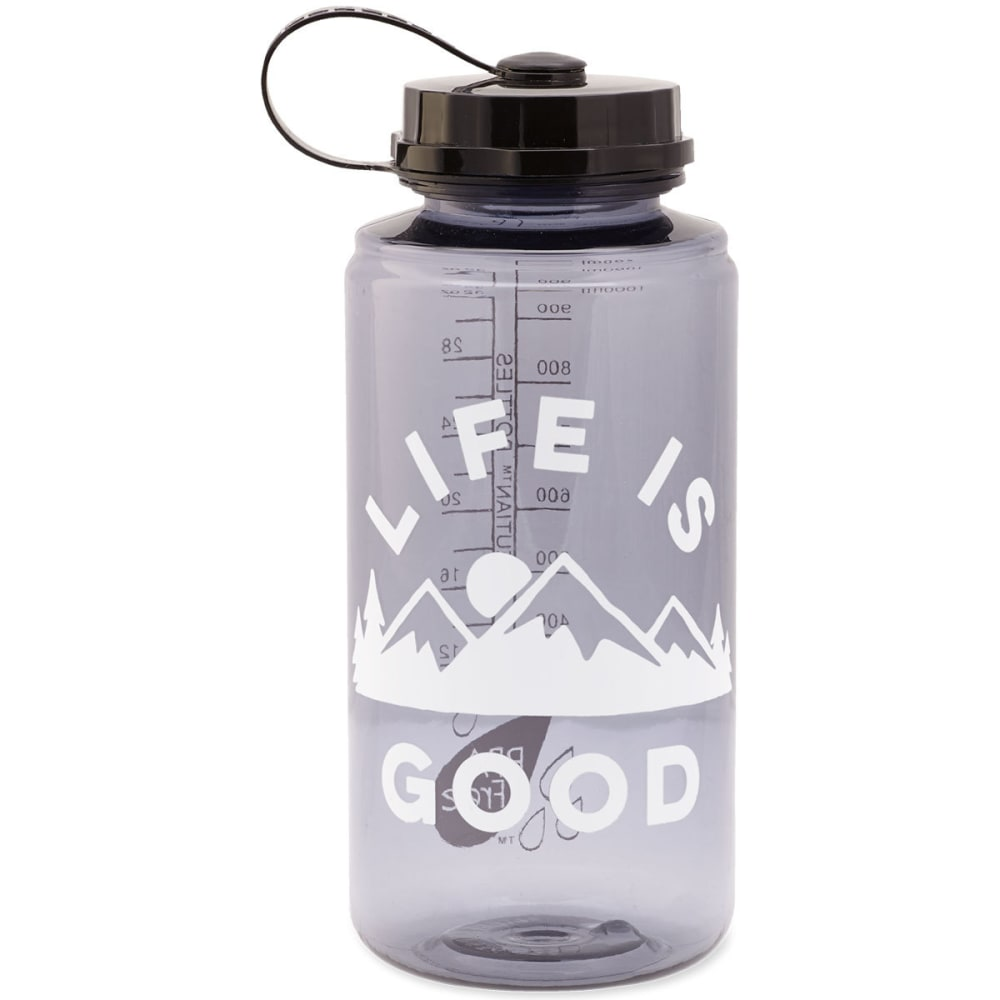 LIFE IS GOOD Mountains Water Bottle - NO COLOR