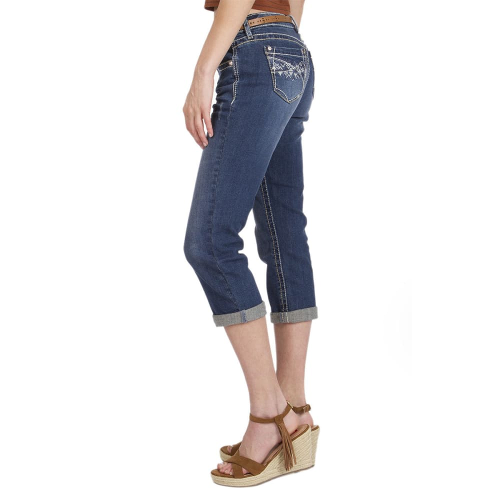 UNIONBAY Juniors' Winnie Crop Denim Pants, 22 IN - CANAL BLUE WASH