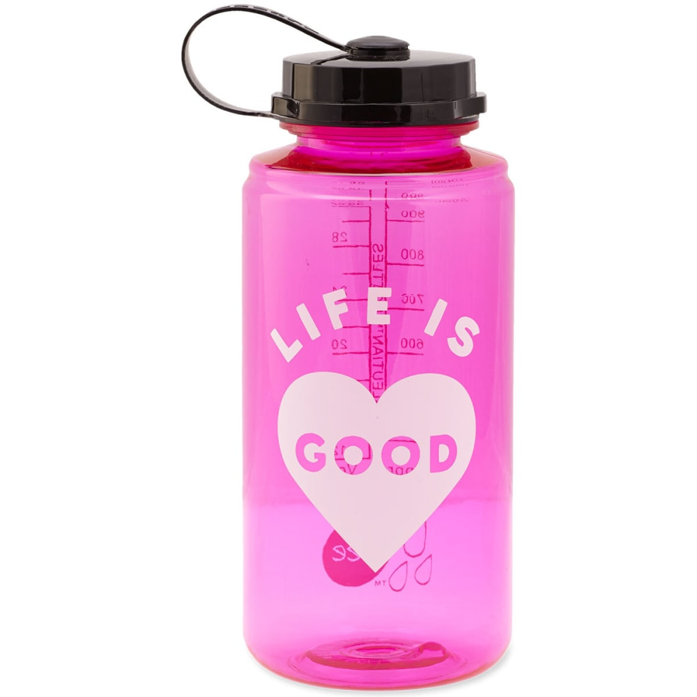 LIFE IS GOOD Heart Water Bottle - NO COLOR