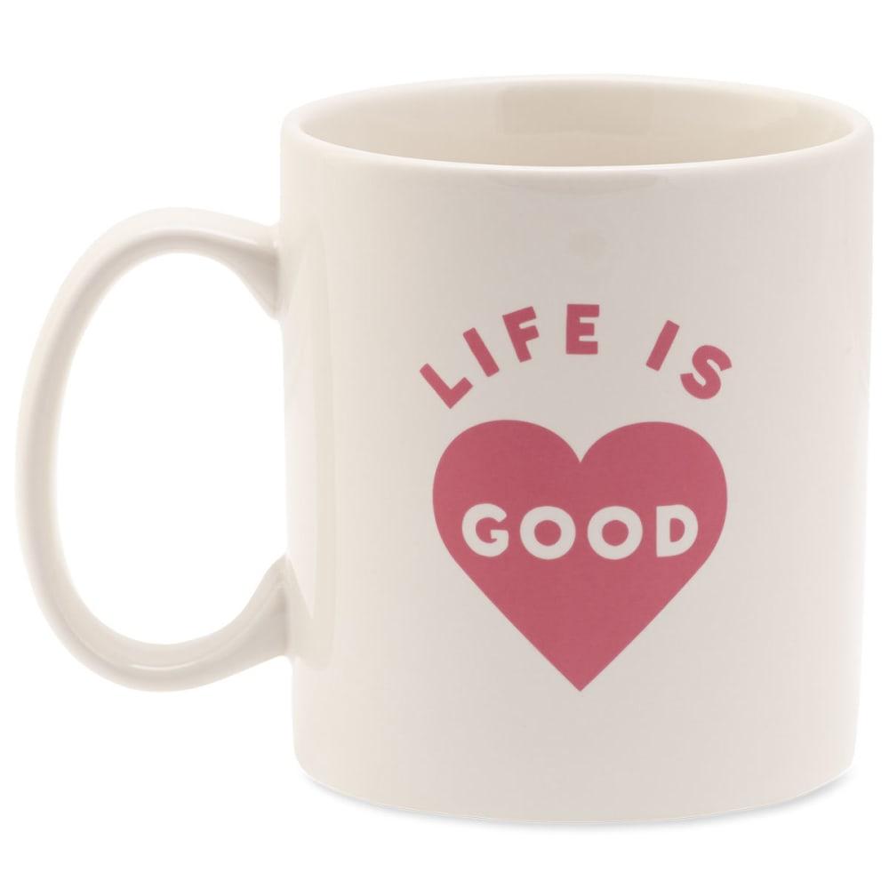 LIFE IS GOOD Heart Jake's Mug - NO COLOR