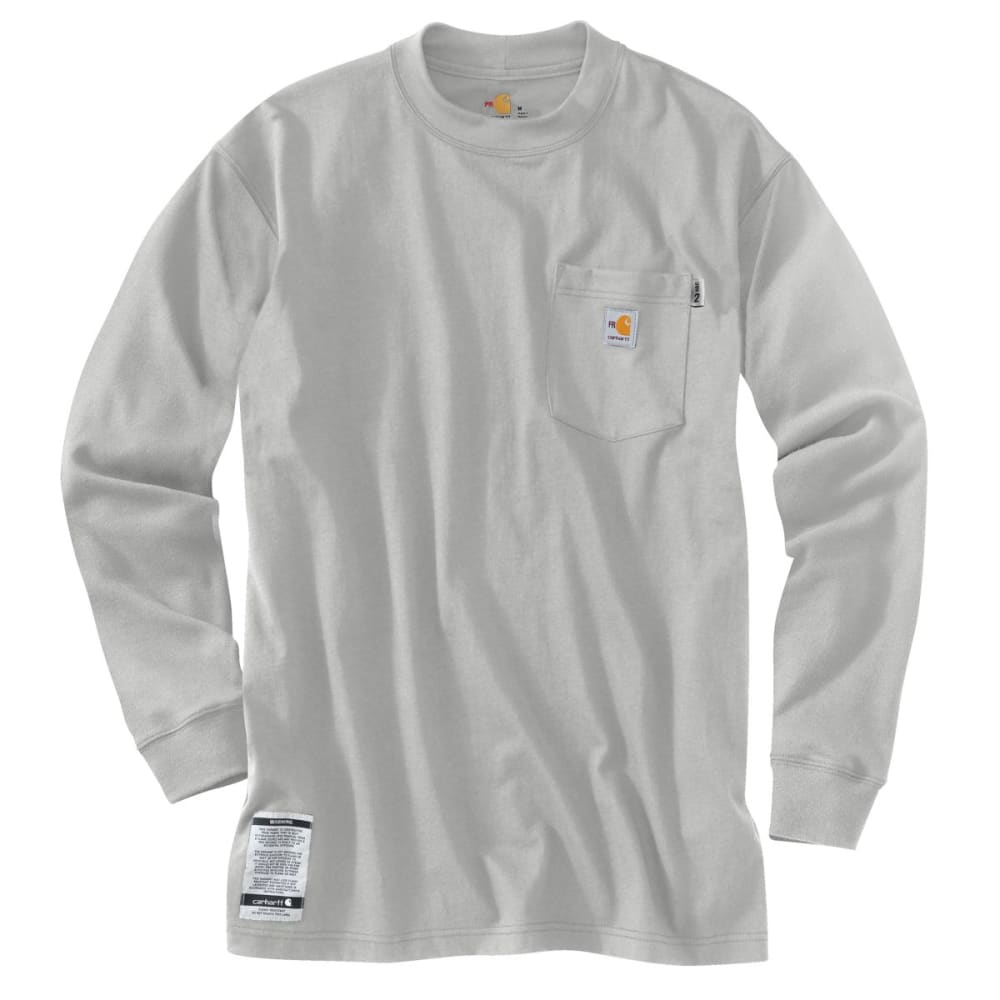 CARHARTT Flame-Resistant Long-Sleeve T-shirt - LIGHT GRAY