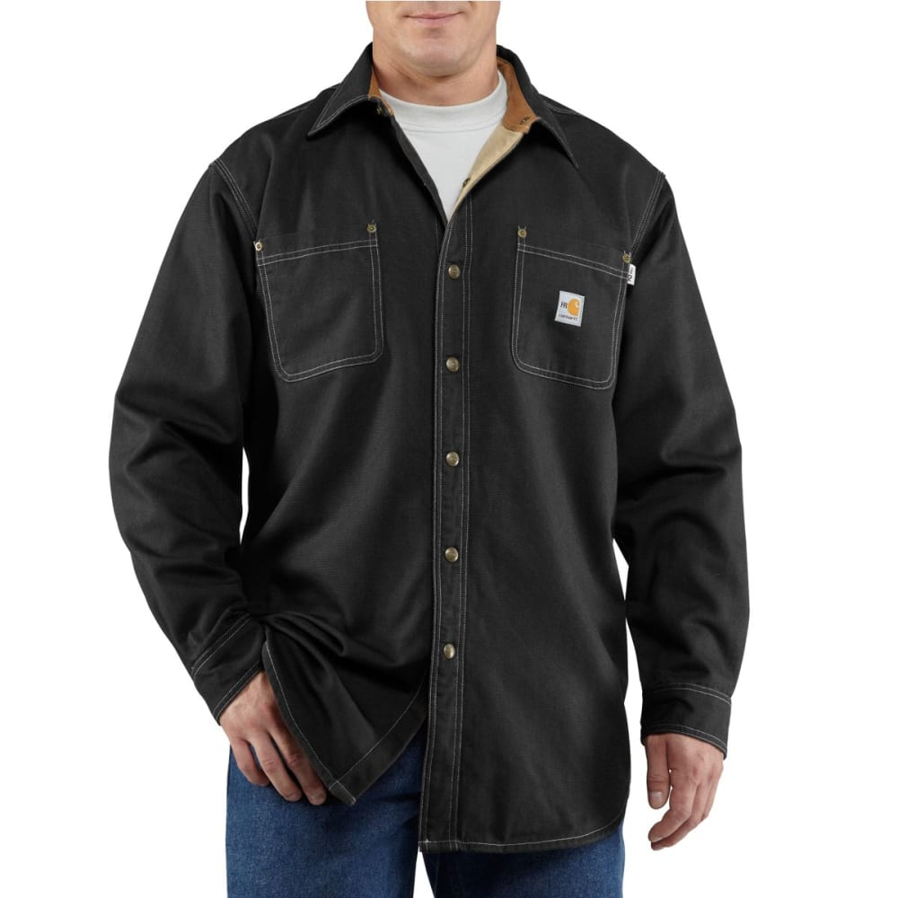 CARHARTT Flame-Resistant Canvas Shirt Jac - BLACK
