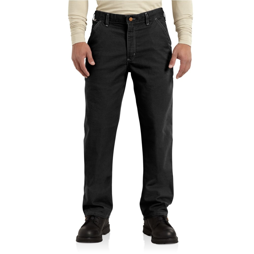 CARHARTT Flame-Resistant Washed Duck Work Dungaree - BLACK
