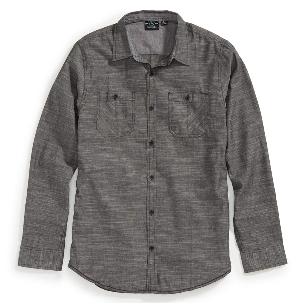 SCOPE Guys' Tom Long Sleeve Woven Shirt - GREY