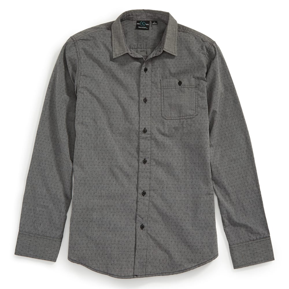 BURNSIDE Men's Tangled Long Sleeve Woven Shirt - GREY
