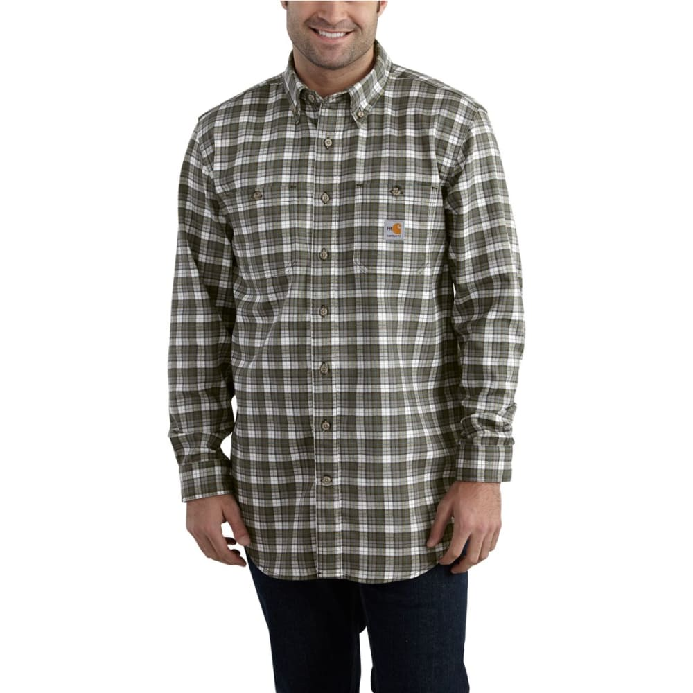 CARHARTT Flame-Resistant Classic Plaid Shirt - GRAY
