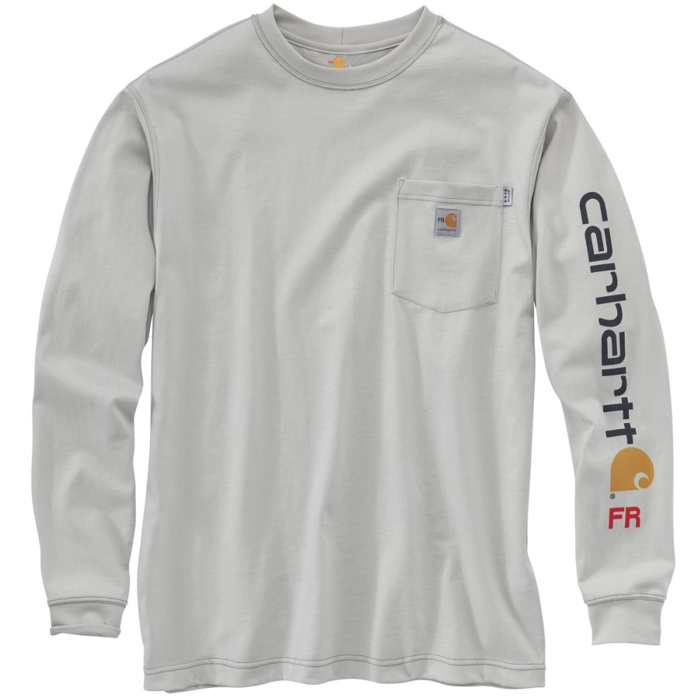 CARHARTT Force Graphic Long-Sleeve T-Shirt - LIGHT GRAY