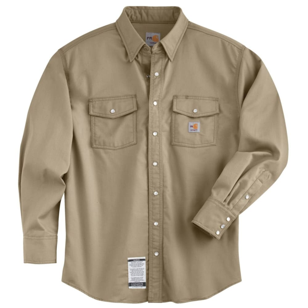 CARHARTT Flame-Resistant Snap-Front Shirt - KHAKI