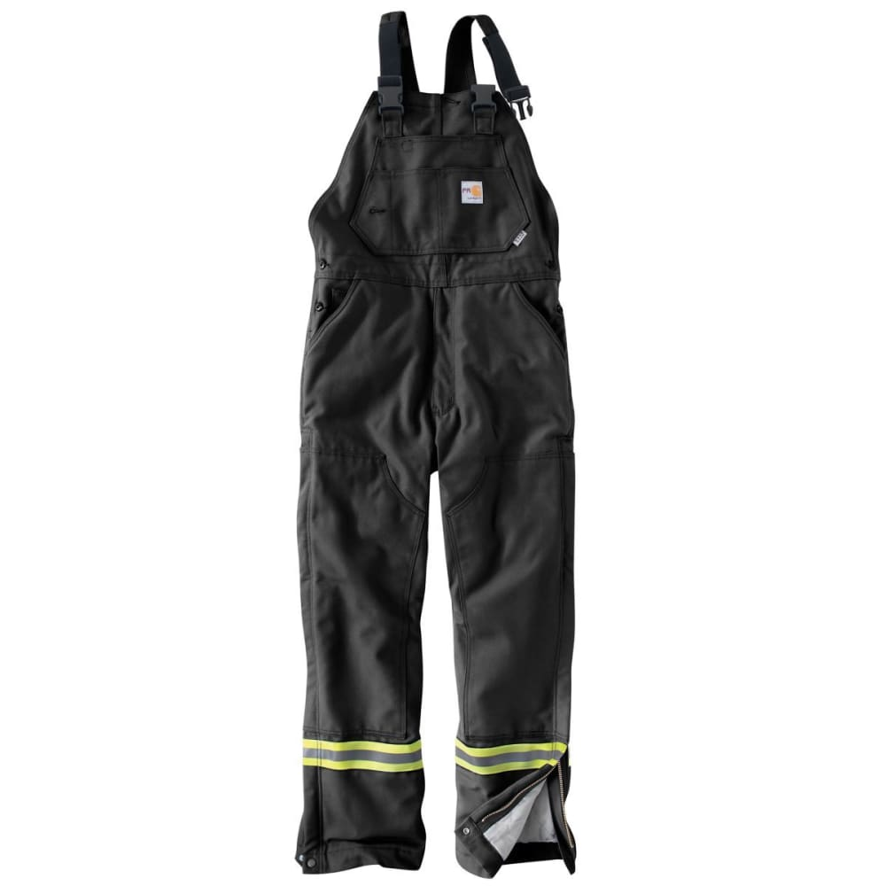 CARHARTT Striped Duck Bib Lined Overall - BLACK