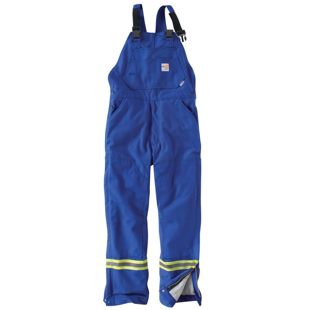 CARHARTT Striped Duck Bib Lined Overall - ROYAL
