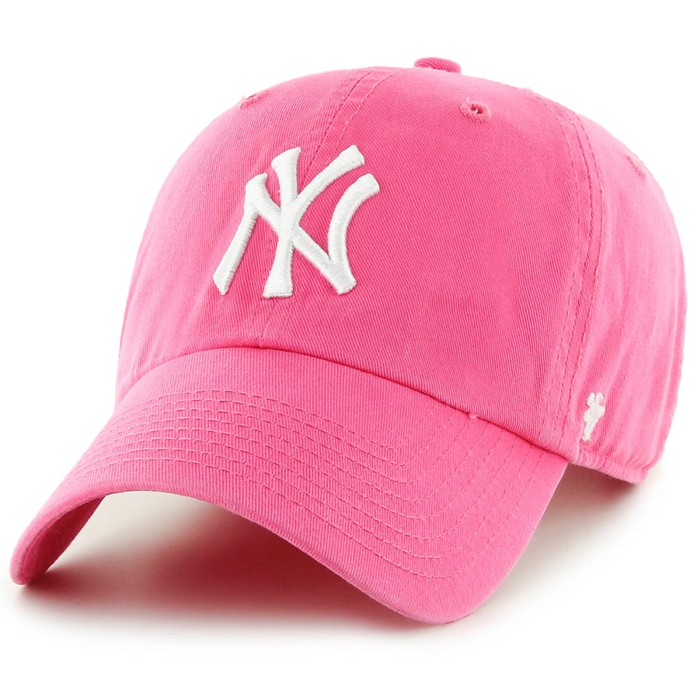 NEW YORK YANKEES Women's '47 Clean Up Adjustable Hat - PINK