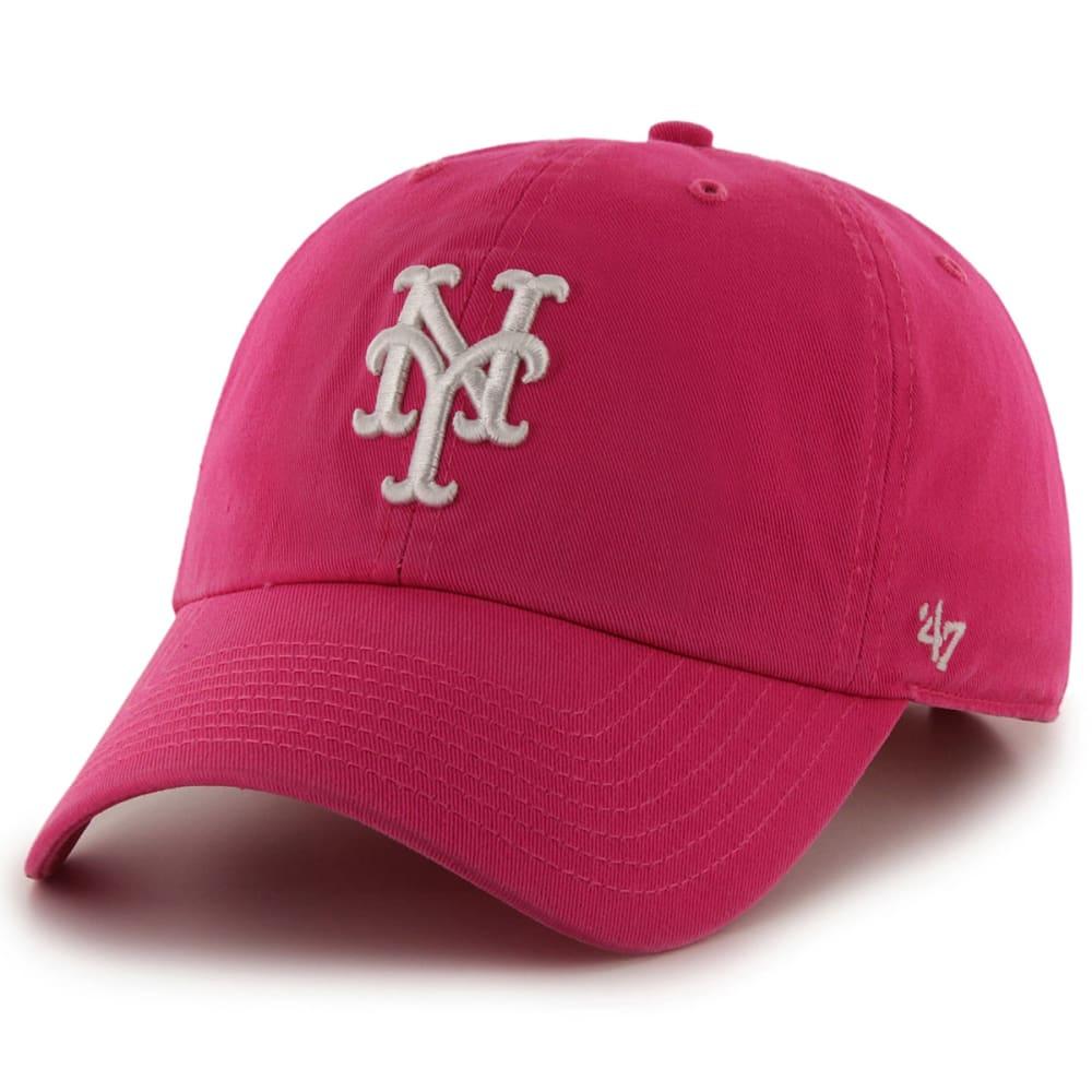 NEW YORK METS Women's '47 Clean Up Adjustable Hat - PINK