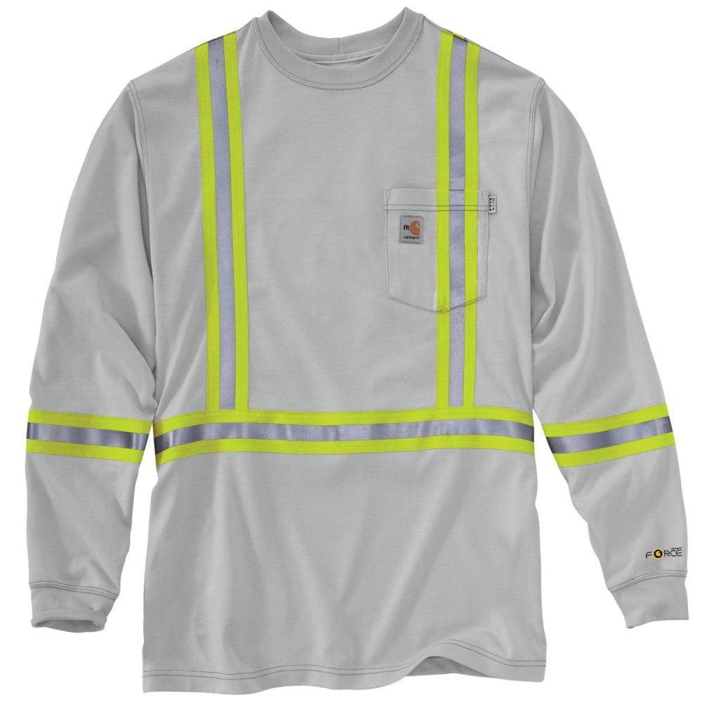 CARHARTT Striped Force Cotton Long-Sleeve T Shirt - LIGHT GRAY