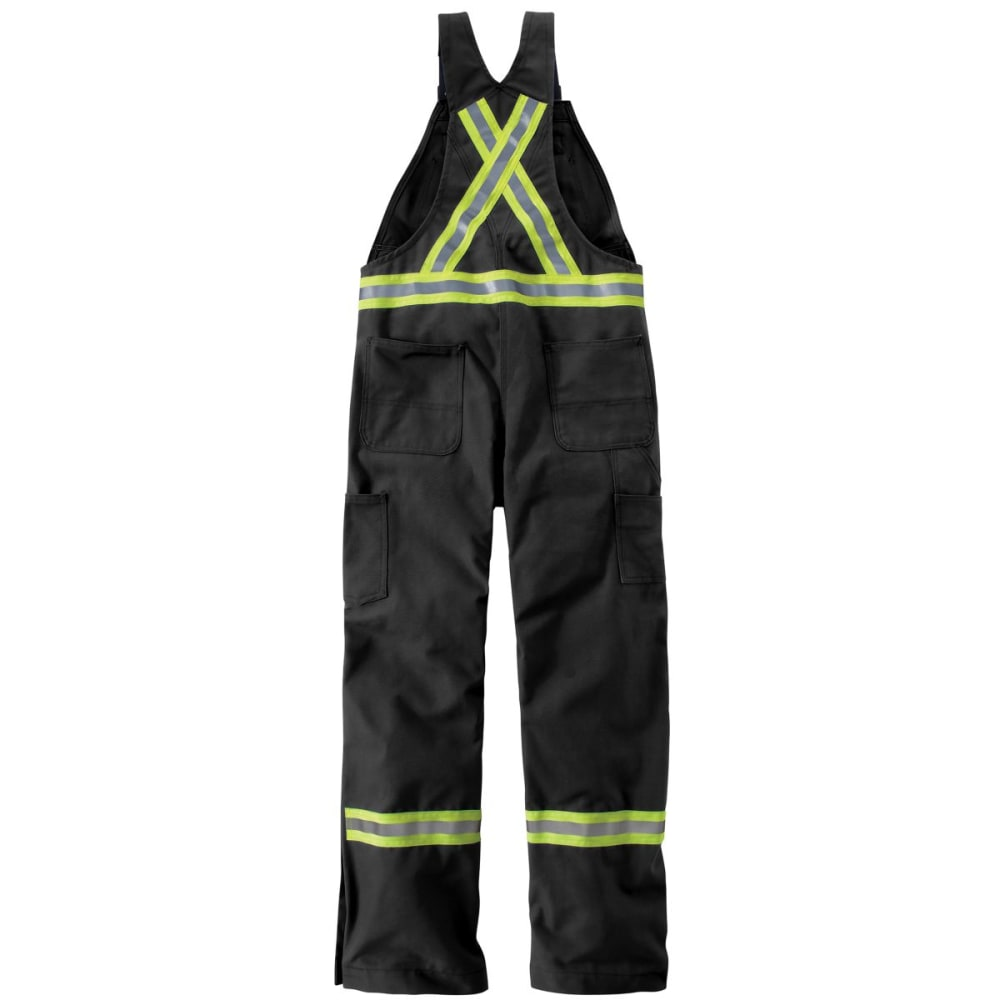 CARHARTT Striped Duck Bib Overall - BLACK