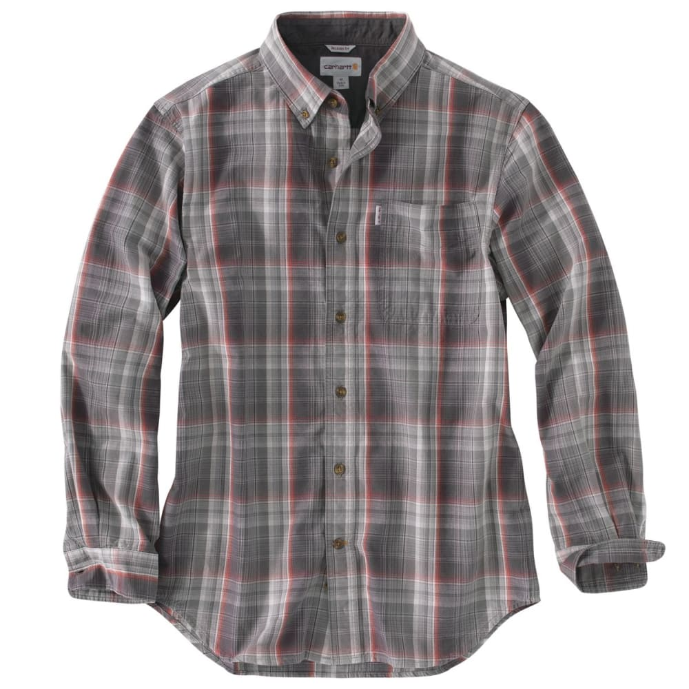 CARHARTT Men's Bellevue Long-Sleeve Shirt - SHADOW
