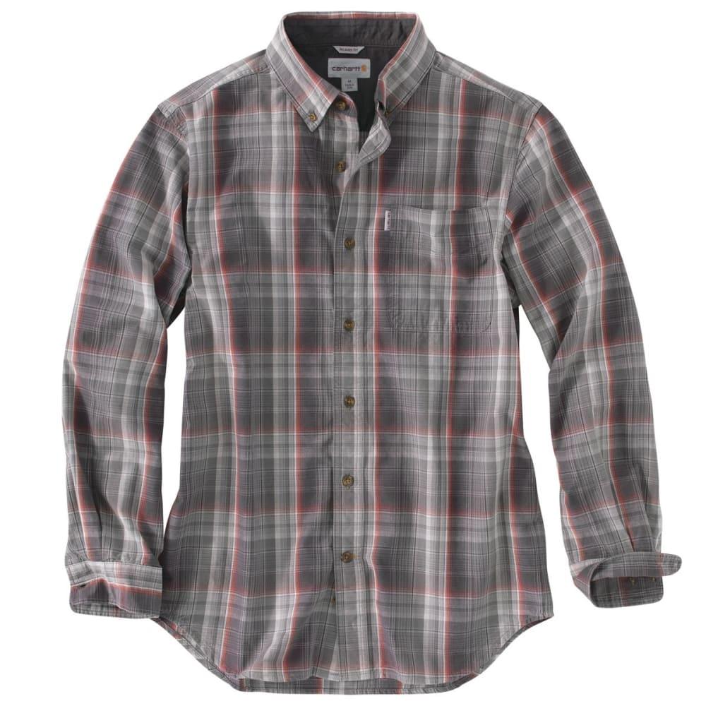 CARHARTT Men's Bellevue Long-Sleeve Shirt - SHADOW