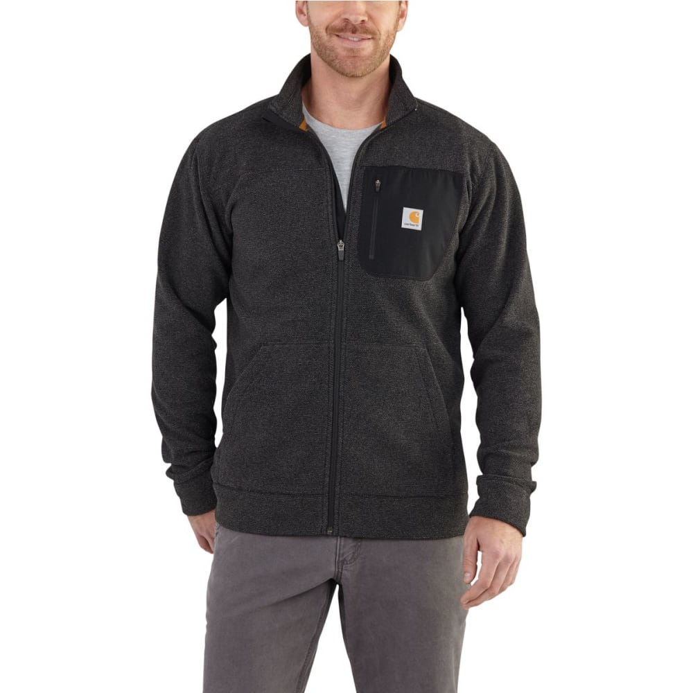 CARHARTT Men's Walden Full Zip Sweater Fleece - CARBON HEATHER