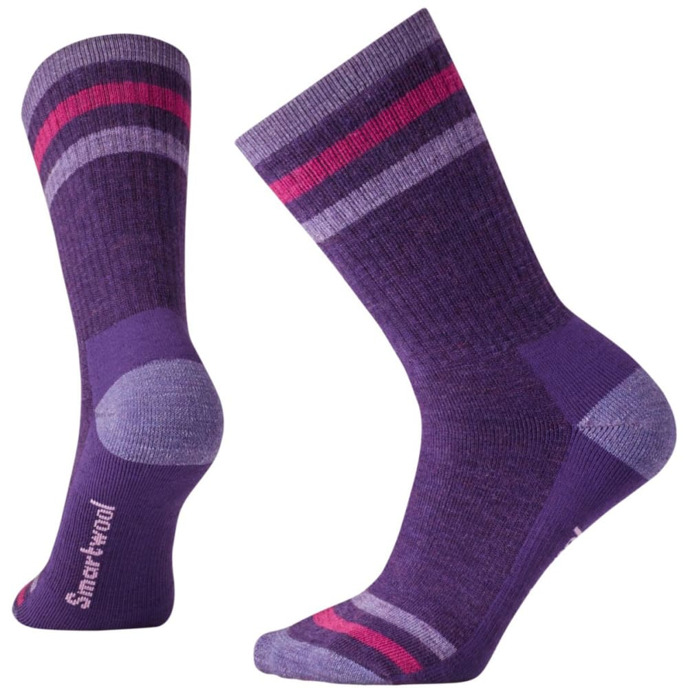 SMARTWOOL Women's Striped Hike Medium Crew Socks - MT PURPLE 591