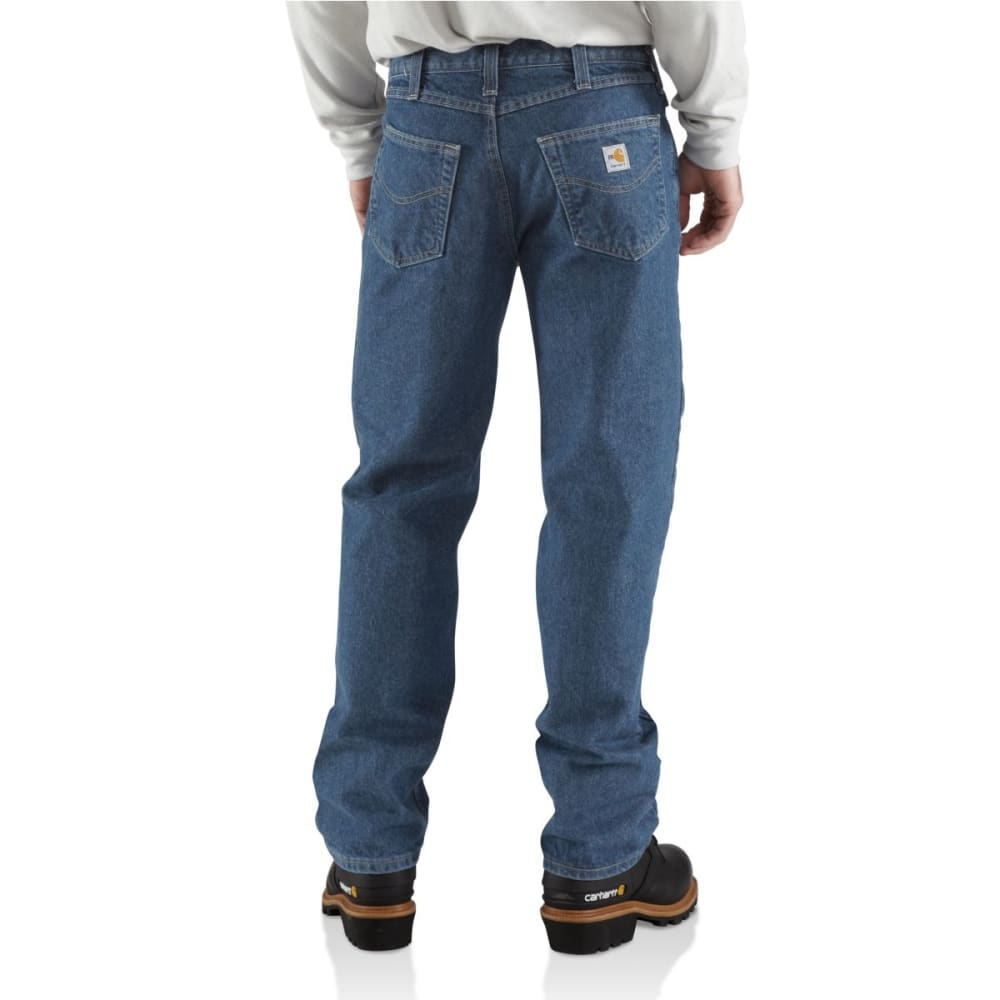 CARHARTT Men's Flame-Resistant Relaxed Fit Utility Jean - MIDSTONE