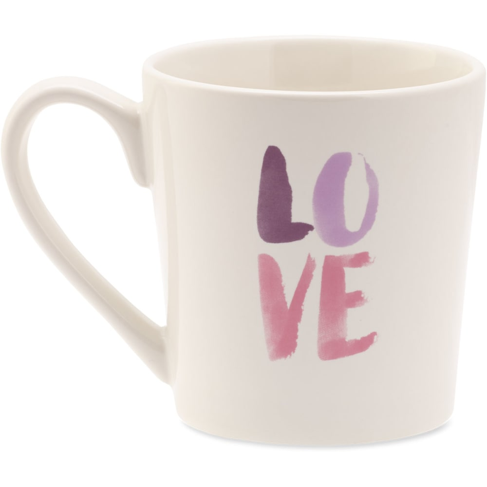 LIFE IS GOOD Love Watercolor Everyday Mug - NO COLOR