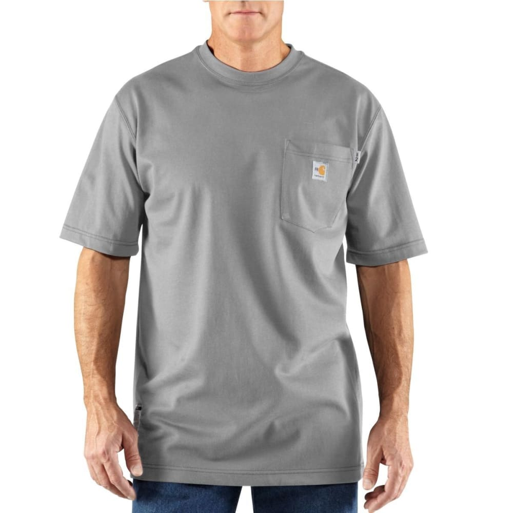 CARHARTT Flame-ResistantShort-Sleeve T-shirt, Extended Sizes - LIGHT GRAY