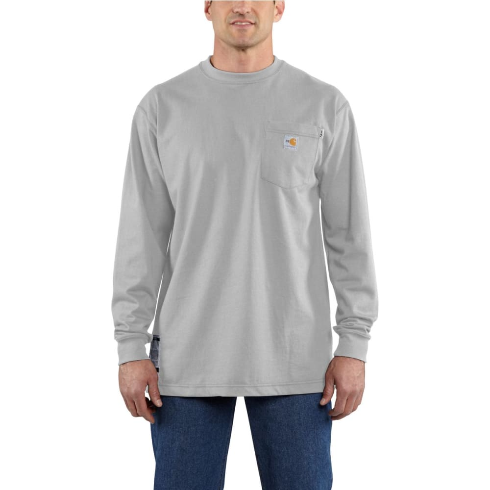 CARHARTT Flame-Resistant Long-Sleeve T-shirt, Extended Sizes - LIGHT GRAY