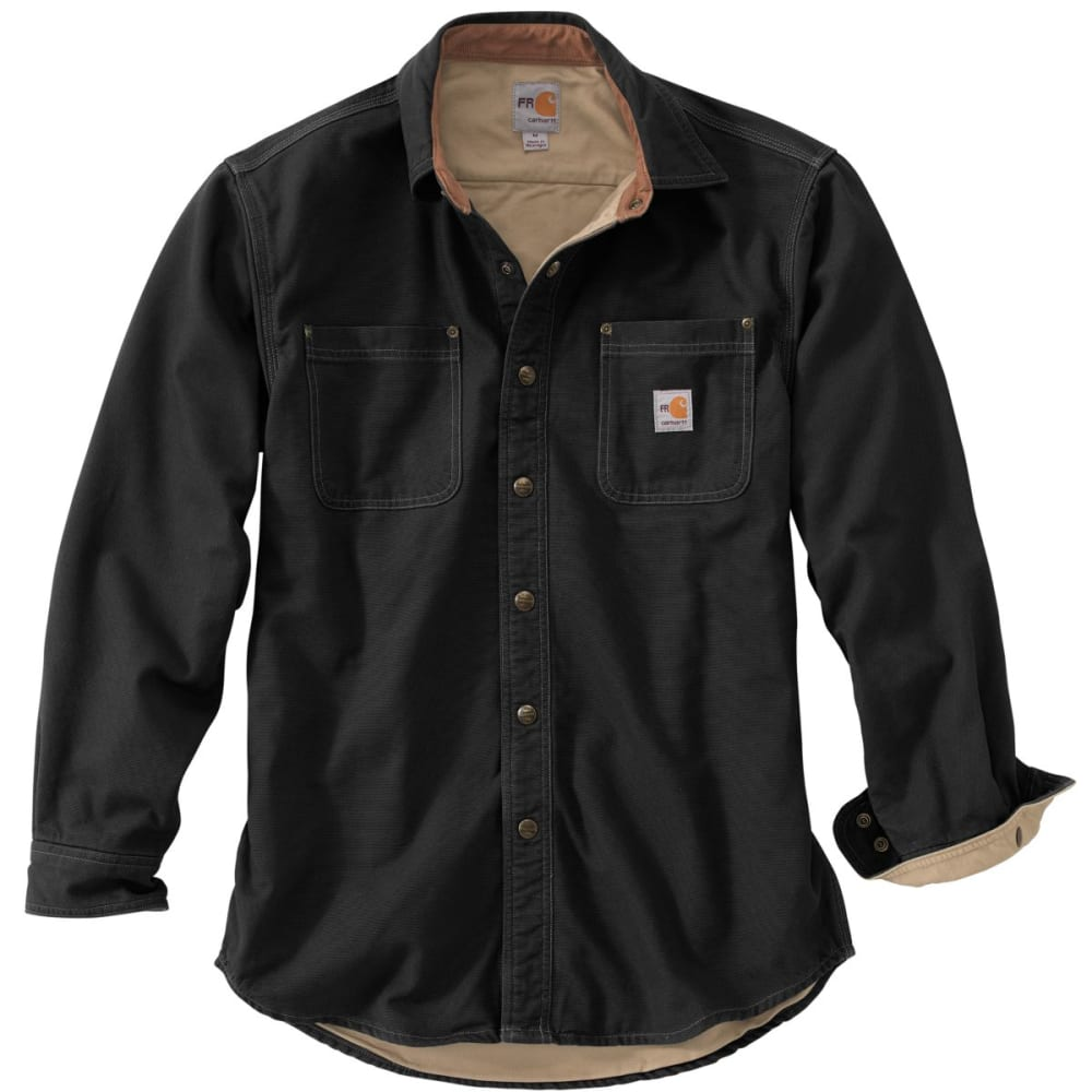 CARHARTT Flame-Resistant Canvas Shirt Jac, Extended Sizes - BLACK