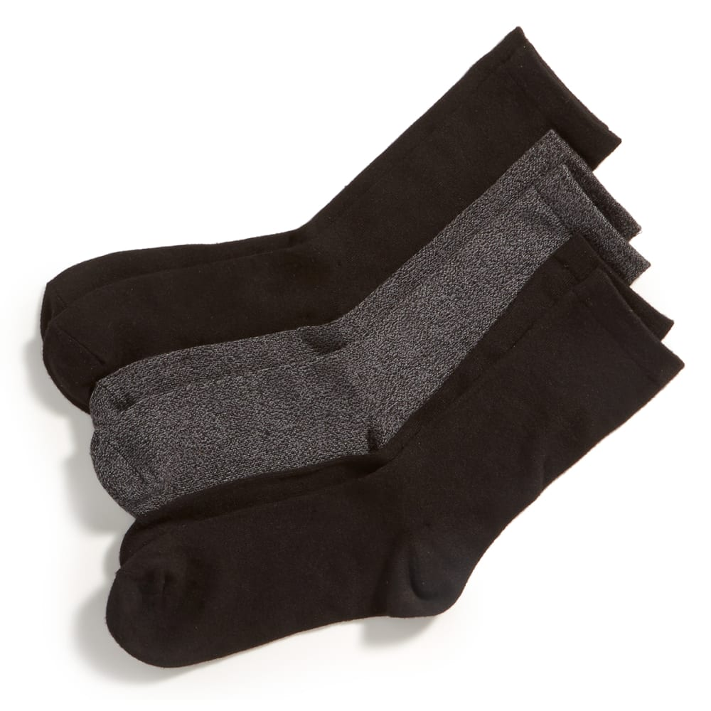 K BELL Women's Soft and Dreamy Crew Socks, 3-Pack - GREY