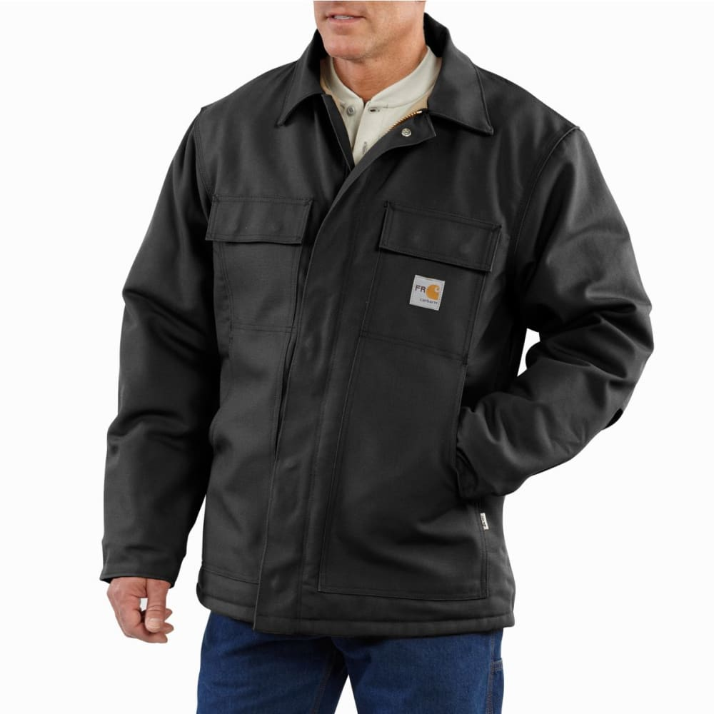 CARHARTT Duck Traditional Coat, Extended Sizes - BLACK