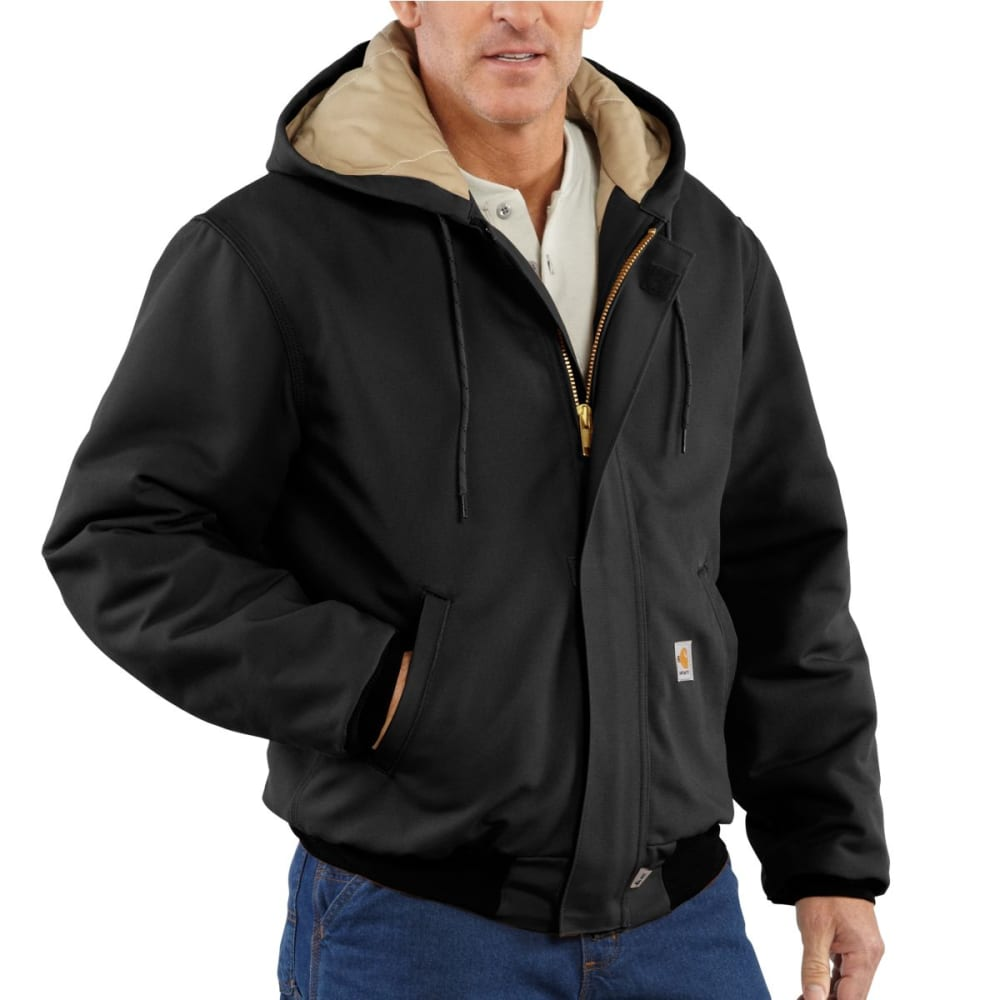 CARHARTT Duck Active Jac/Quilt Lined, Extended Sizes - BLACK