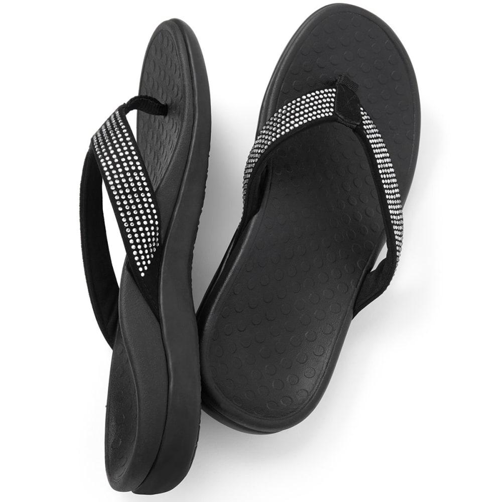 VIONIC Women's Tide Rhinestone Sandals, Black - BLACK