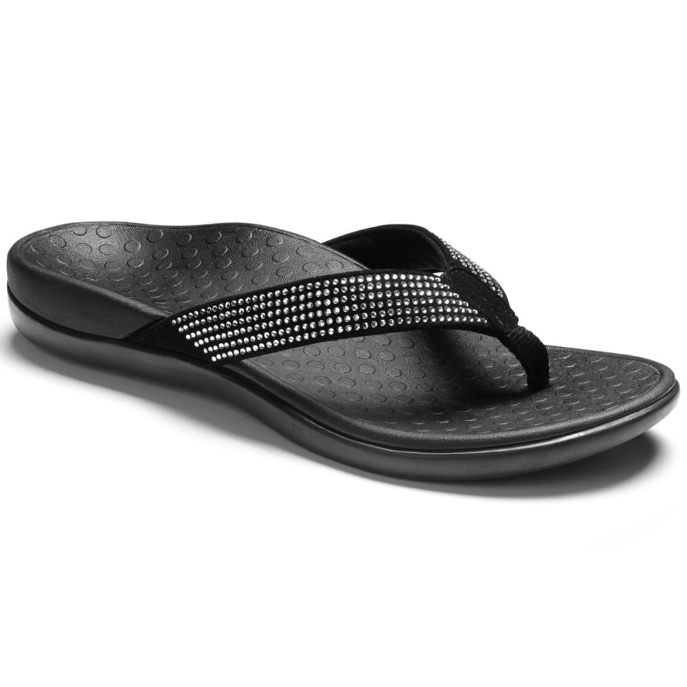 VIONIC Women's Tide Rhinestone Sandals, Black - BLACK