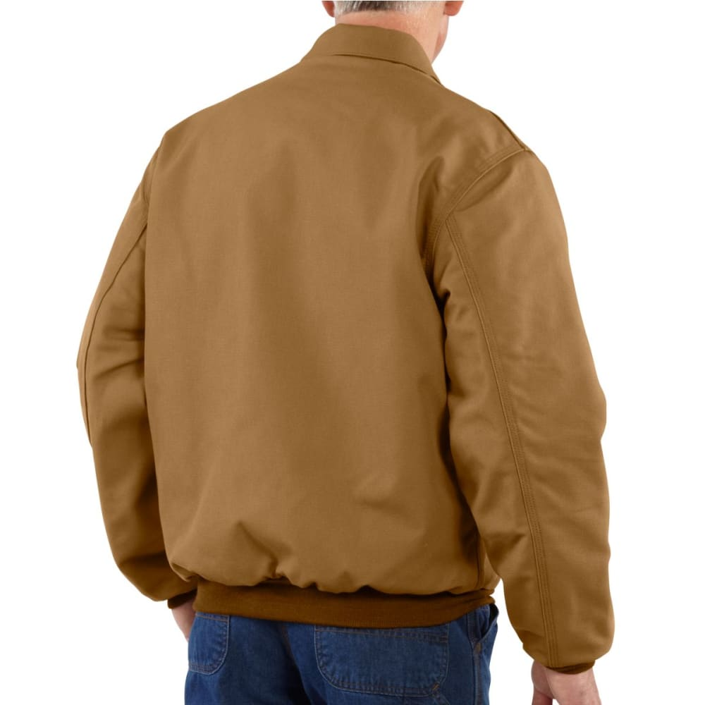 CARHARTT Duck Bomber Jacket, Extended Sizes - CARHARTT BROWN