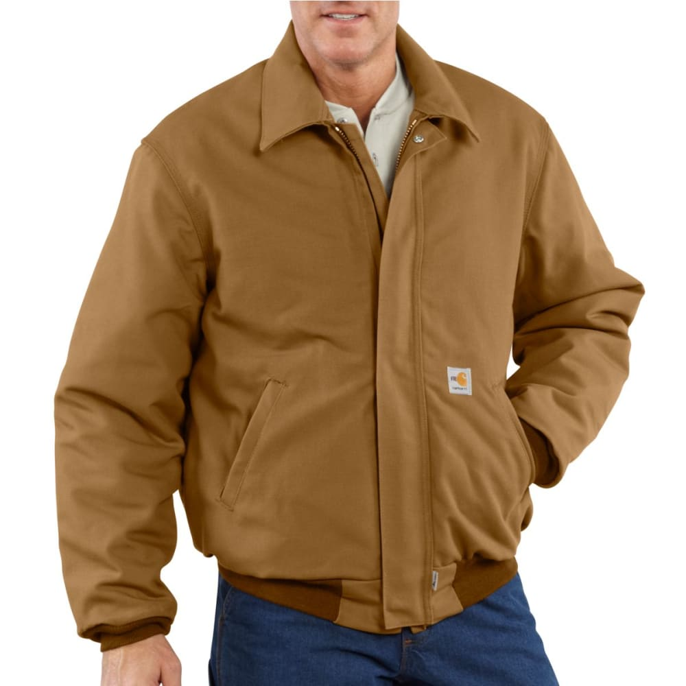 CARHARTT Duck Bomber Jacket, Extended Sizes - CARHARTT BROWN