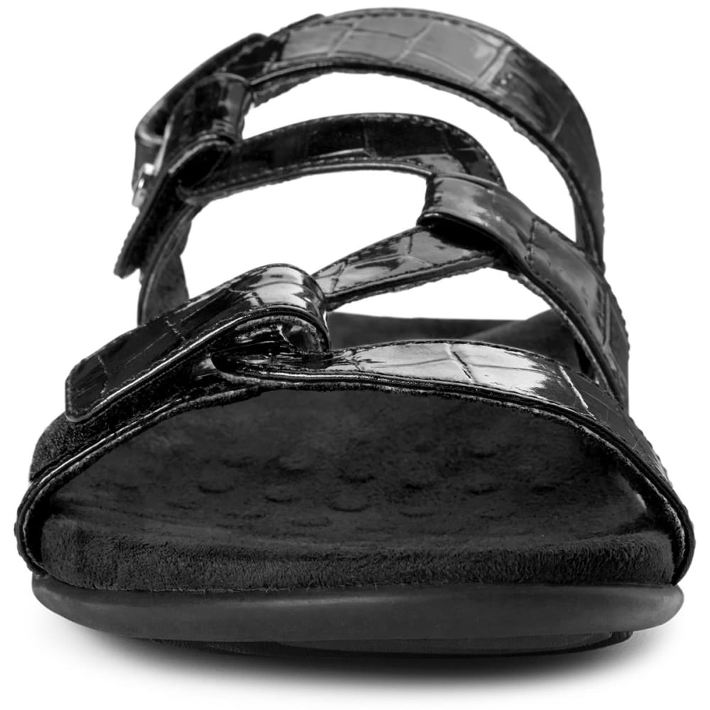 VIONIC Women's Paros Backstrap Sandals, Black - BLACK