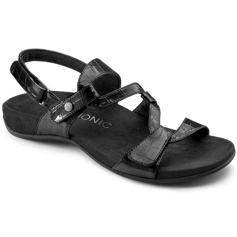 VIONIC Women's Paros Backstrap Sandals, Black 6