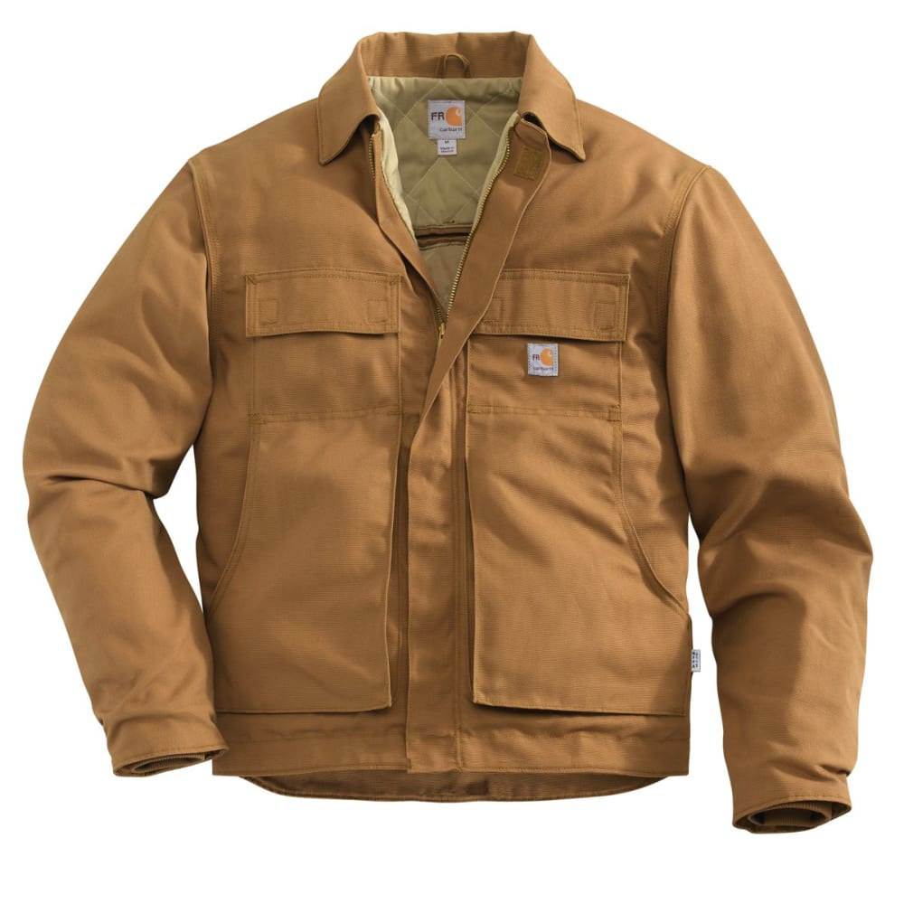 CARHARTT Lanyard Access Jacket, Extended Sizes - CARHARTT BROWN